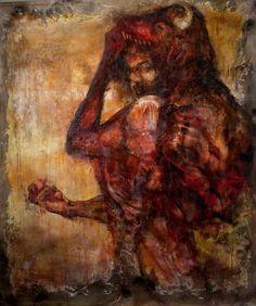 "Saatchi Art Artist Santiago Betancur Z; Painting, ""Carne & Vorare"" #art"