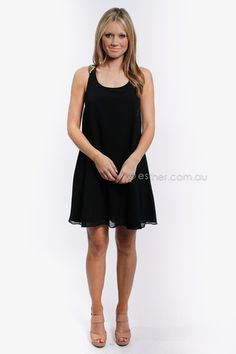 $89 lumier tribal beaded strap dress - black