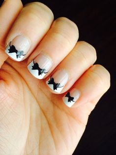 Bow Nail Decal by BKMVinylDesign on Etsy, $4.00