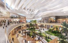 Ksa by benoy mall design, retail design, commercial complex, commercial str Mall Design, Retail Design, Render Architecture, Singapore Architecture, Shoping Mall, Shopping Mall Interior, Restaurant Hotel, Atrium Design, Airport Design