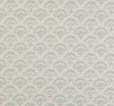 Dotty Brown | Gracie Duck Egg Cotton Fabric | Dotty Brown