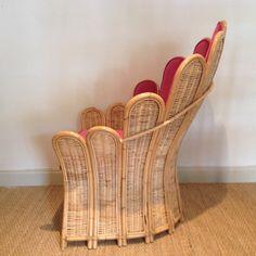 one kings lane velvet and rattan chair