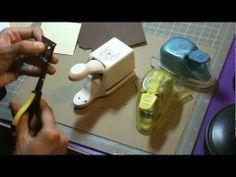 tutorial: making photo corners using corner punch---great idea