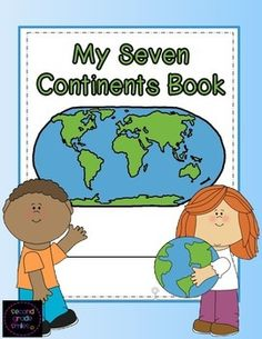 My Seven Continents Book - This is a student book created for classroom or homeschool use when studying the seven continents. It includes a cover page, a label by number student map, and pages picturing an outline of each of the seven continents where students are asked to label the continent and write three facts about it. $ #continents #socialstudies