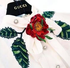 Gucci Resort 2016, embroidery evolution #embroidery #gucci #fashiontrends