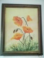 Price $74.35 - Listing Lots Of Estate Pieces, Tag Sales, And Amish Country Finds. Shabby, Country, Cottage, Primitive, Or French Shab, Paris Apartmentstyle In Good Vintage Condition. The Poppies Look Like You Can Touch Them. Much Nicer Than This Picture Came Out. Signed Ml Smith A Local Missouri Artist From Her E...