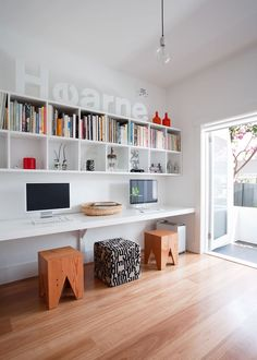 Furniture Home Office Design Ideas. Hence, the demand for house offices.Whether you are planning on including a home office or renovating an old space into one, here are some brilliant home office design ideas to aid you get going. House, Interior, Home, Modern House Design, Workspace Inspiration, House Interior, Home Office Design, Contemporary House, Interior Design
