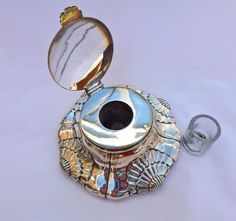 Walker and Hall Silver Plated Inkwell Circa 1900 Sheffield England