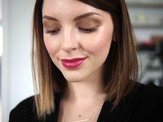 Glowy skin & bronze eyes (Essie Button)