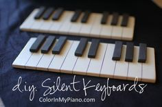 DIY: Silent Keyboards.  Great for games or just as a reference for completing theory worksheets.