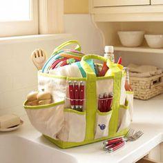 Herşey için çanta yaptık, bu da piknik çantası. Gelecek yaz için :))