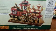 Plaid tidings decorative collection Christmas cannonball train plays music in Home & Garden, Holiday & Seasonal Décor, Christmas & Winter | eBay