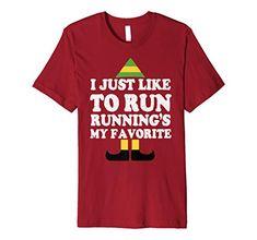 d5f86b49 New I Just Like To Run Running Christmas Elf T-shirt online shopping -  Yourfavoriteclothing