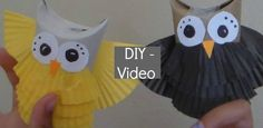 DIY Toilet paper roll owls:: fun for kids to make at an owl themed party.