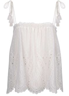 Buy Ivory Mint Velvet Broderie Camisole from our Women's Shirts & Tops range at John Lewis & Partners. Lace Up Espadrilles, Poplin Dress, Weather Wear, Working Mother, Delicate Jewelry, Cotton Blouses, Bandeau, Ivory, Velvet