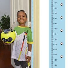 Soccer Growth Chart in Centimeters Track & Measure Kids Height-Fits in Door Jamb #MomApproved