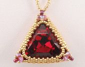 Instructions for Triangle Trinket   Beading Tutorial