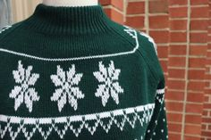 Vintage Green and White Holiday Sweater Acrylic Etsy Vintage, Vintage Items, Vintage Clothing, Acrylic Fiber, Vintage Green, Clothing Items, Knitted Hats, Going Out, Holiday Sweaters