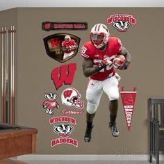 NCAA Montee Ball Wisconsin Badgers Wall Decal