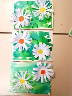 Spring Crafts For Kids, Summer Crafts, Art For Kids, Flower Crafts, Flower Art, Kindergarten Art Projects, Animal Art Projects, 4th Grade Art, Art Lessons Elementary