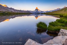 Sunrise on Lake Stellisee woth Mt.Matterhorn (Cervino).  Switzerland.  www.albertoperer.com
