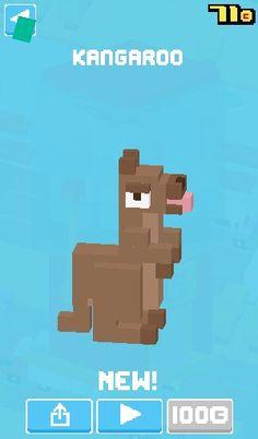 On crossy road got a kangaroo lol