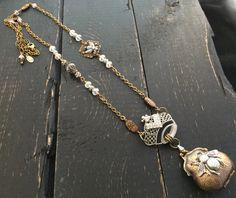 FUF Royal Queen Bee Long Layering Necklace Long by KarenTylerDesigns Bee Jewelry, Jewelry Crafts, Unique Jewelry, Locket Necklace, Pendant Necklace, Royal Queen, Queen Bees, Layering, Steampunk