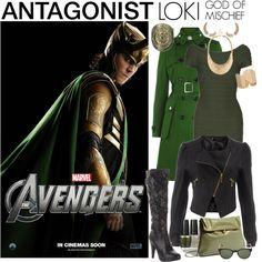 [Outfits inspired by The Avengers] ANTAGONIST Ensemble | Loki, God of Mischief, created by LeighAnneD on Polyvore