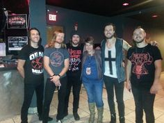 Andrew, Josiah, me, joey the  best drummer, Jason, kevin us awesome band people