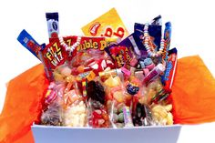 LARGE RETRO SWEET HAMPER -Containing a selection of over 460 individual sweets and chocolate bars The Large MEGA Sweet Hamper box makes the perfect gift for any special occasions. Makes the perfect Birthday gift or as an office sharing gift or maybe as a sweetener for that certain someone in your life, this gift box will definitely give them a sugar rush to remember.