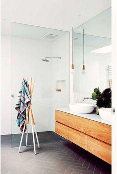 Une salle de bain épurée pinterest deco inspiration intérieur