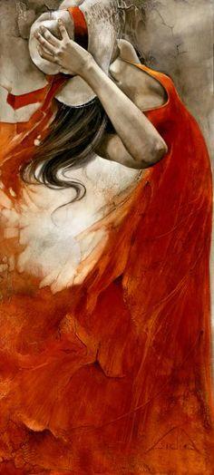 "Saatchi Art Artist Lidia Wylangowska; Painting, """"Unbearable Lightness of Being"" original oil painting"" #art"