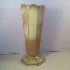 Frankoma Vase 38 Octagonal Prairie Green 1967+