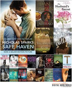 Best-Selling Ebooks of 2013: Safe Haven, Inferno and More
