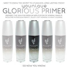Mineral makeup's secret weapon: GLORIOUS PRIMER. www.youniqueproducts.com #youniqueproducts #beauty #mineralmake