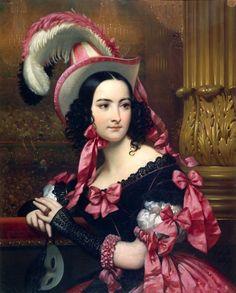 Le bal masqué ~ Joseph-Désiré Court (1797-1865)  1837