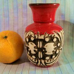 Kunstvoll reliefierte Vase, Ü- Keramik, 60er Jahre, Form 1327/12  Übelacker  | eBay