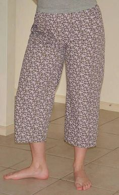 TUTORIAL: Pyjama Pants - using a ready made pair as a pattern - CLOTHING