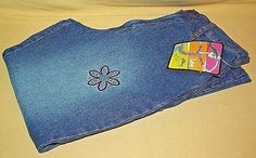 LEE JEANS GIRLS FLARED SIZE 14R FLORAL EMBROIDERY STONE BLAST NWT 100% COTTON #Lee #Flare #Everyday