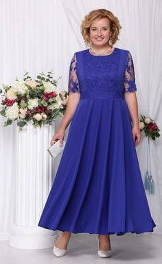 my favorite color and style of dress Evening Dresses Plus Size, Plus Size Dresses, Evening Gowns, Lovely Dresses, Beautiful Gowns, Mom Dress, Mothers Dresses, African Fashion Dresses, Occasion Dresses