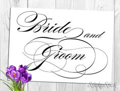 Bride & Groom Sign for Your Wedding Reception by StickyStick, $5.00