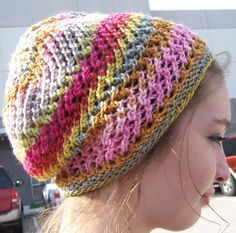 Alexis+Knit+Beanie+/+Cap+/+Hat+in+Multi+Color+Pink+by+Galaxysart,+$29.50