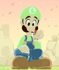 "modmad: "" Big bro is so cool! listen man Mario & Luigi: Dream Team was a really good game with good cute brotherly love and a killer soundtrack and visuals OKAY "" Super Mario Art, Super Mario World, Nintendo, Mario Y Luigi, Princess Toadstool, King Boo, Super Mario Brothers, Retro Video Games, Manga Illustration"