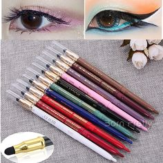 $2.79 1 Pc Double-ended Rotary Erasable Eyeliner Pencil Waterproof With Sponge Brush - BornPrettyStore.com