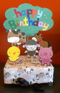 Happy Birthday Box made using Create a Critter