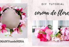 DIY Corona de flores Hello Everyone, Bridal Accessories, Diy Tutorial, Floral Wreath, Crochet Patterns, Wreaths, Make It Yourself, House Styles, Flowers