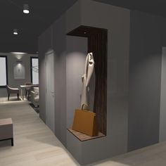 Návrh prostorné moderní chodby.#interiordesign#corridor#modern#prostornachodba