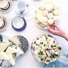 Tea time with cucumber sandwiches & scones