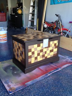 Real life Minecraft toy chest