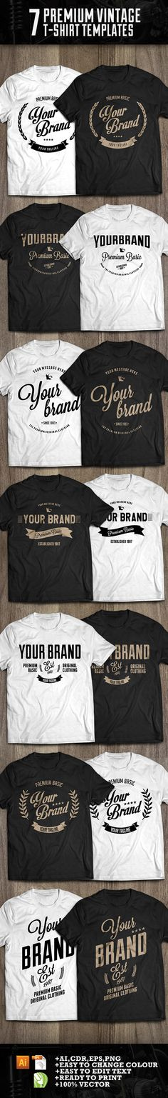 7 premium t-shirt template on Behance